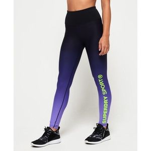 SuperDry Sport High Waist Purple Leggings Large